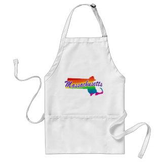 Rainbow State Of Massachusetts Adult Apron