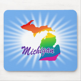Rainbow State Of Michigan Mouse Pad