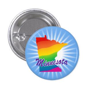 Rainbow State Of Minnesota Pinback Button