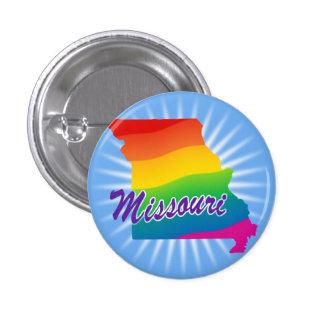 Rainbow State Of Missouri Pinback Buttons