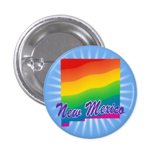 Rainbow State Of New Mexico Pinback Buttons
