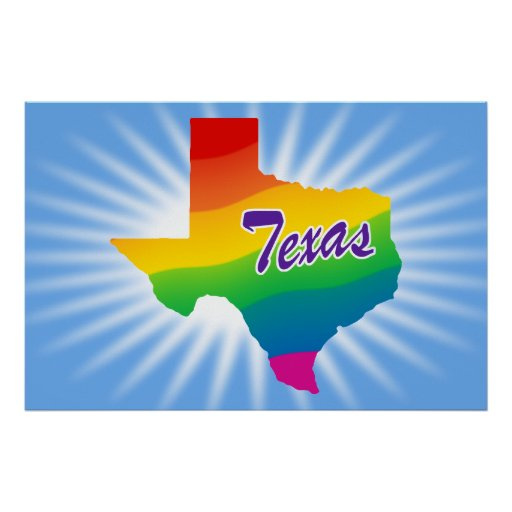 Rainbow State Of Texas Poster