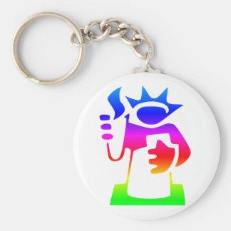 Rainbow Statue Of Liberty Keychain