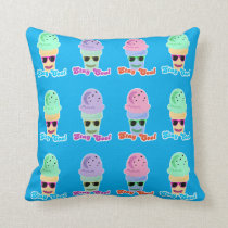 Rainbow Stay Cool Cone Parade Throw Pillow