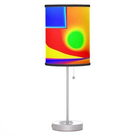 Rainbow Step, Abstract Fractal Door into Fantasy Desk Lamp