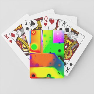 Rainbow Step, Abstract Fractal Door into Fantasy Poker Deck