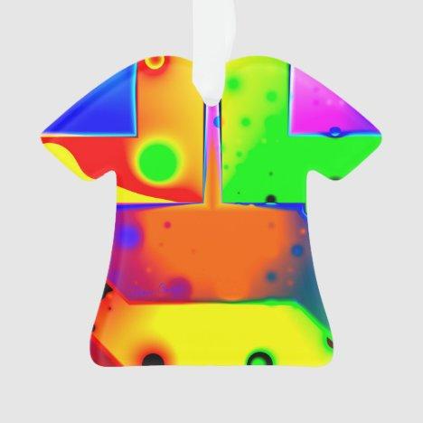 Rainbow Step, Abstract Fractal Door into Fantasy Ornament