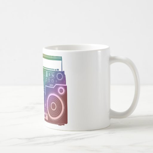 Rainbow Stereo Classic White Coffee Mug