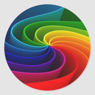 Rainbow Sticker Envelope Seal Wedding Favor Tag