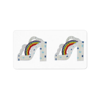 Rainbow Stiletto Address Labels