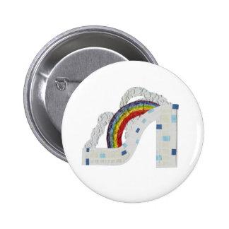 Rainbow Stiletto Badge Button
