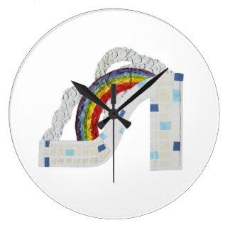 Rainbow Stiletto Clock