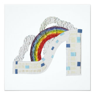 Rainbow Stiletto Invitation