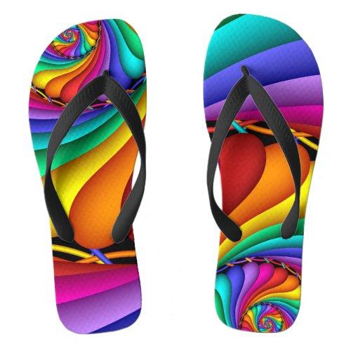 Rainbow Stitchery Gay Pride LGBT Flip-flops Flip Flops