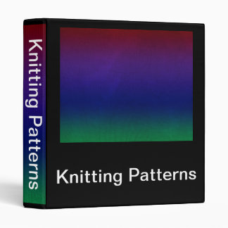 Rainbow Stockinette Binder
