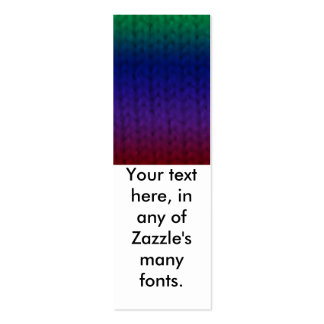 Rainbow Stockinette Bookmarks Double-Sided Mini Business Cards (Pack Of 20)