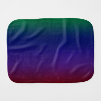 Rainbow Stockinette Burp Cloth