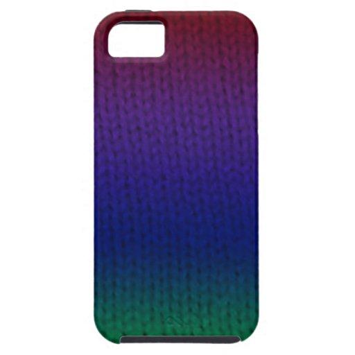 Rainbow Stockinette iPhone 5 Cases
