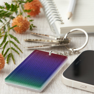 Rainbow Stockinette Keychain