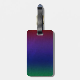 Rainbow Stockinette Luggage Tag