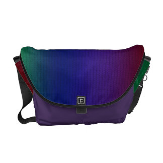 Rainbow Stockinette Messenger Bag