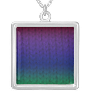 Rainbow Stockinette Necklace