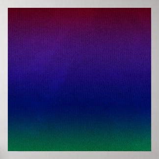 Rainbow Stockinette Poster