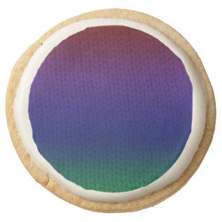 Rainbow Stockinette Round Shortbread Cookie