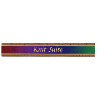Rainbow Stockinette Ruler