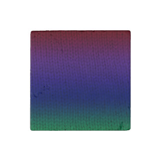 Rainbow Stockinette Stone Magnet