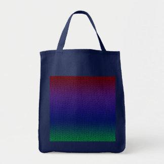 Rainbow Stockinette Tote Bag