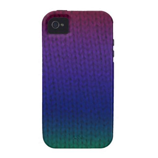 Rainbow Stockinette Vibe iPhone 4 Cover