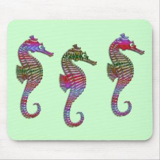 Rainbow Stone Seahorses Mouse Pad