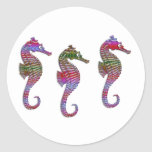 Rainbow Stone Seahorses Stickers