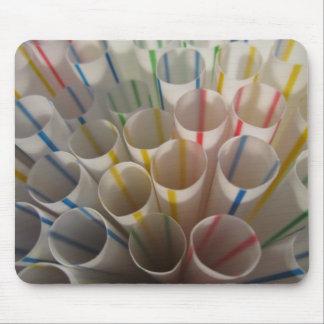 Rainbow Straws Mouse Pad