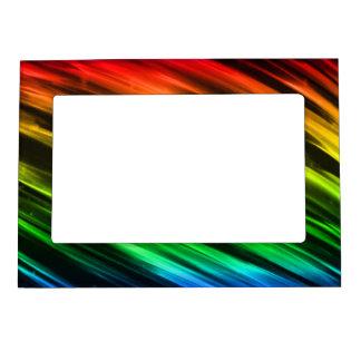 Rainbow Streaks Magnetic Frame