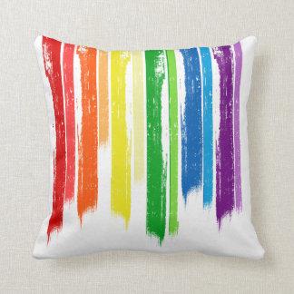 RAINBOW STREAKS -.png Pillow