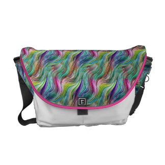 Rainbow Streaks Rickshaw Messenger Bag