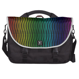 Rainbow Strings and Waves Commuter Bag