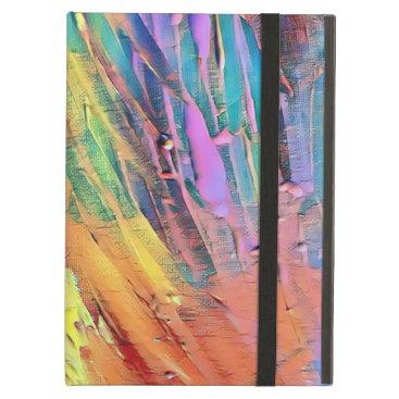 Rainbow stripe abstract case for iPad air