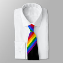 Rainbow Stripe Gay Pride Business Office Work Neck Tie