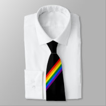 Rainbow Stripe Gay Pride Business Office Work Neck Tie