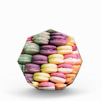 Rainbow Stripe of Stacked French Macaron Cookies Acrylic Award