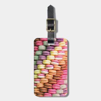 Rainbow Stripe of Stacked French Macaron Cookies Bag Tag