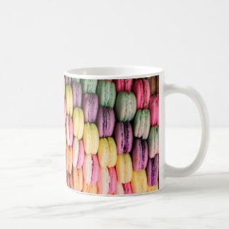 Rainbow Stripe of Stacked French Macaron Cookies Coffee Mug