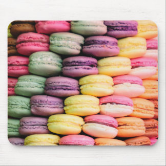 Rainbow Stripe of Stacked French Macaron Cookies Mouse Pad