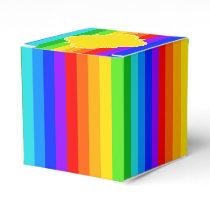 Rainbow Stripe Pattern #2 Favor Box