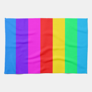 Rainbow Stripe Pattern Kitchen Towels