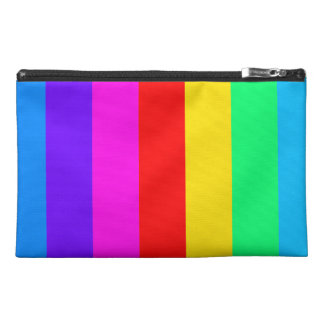 Rainbow Stripe Pattern Travel Accessory Bag