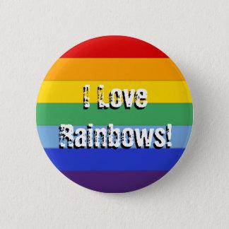 Rainbow Stripe Pinback Button